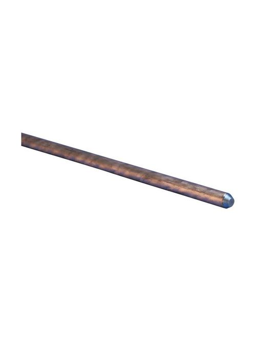 Erico 613880 3/8 Inch x 8 Foot Copper Bonded Steel Pointed Ground Rod