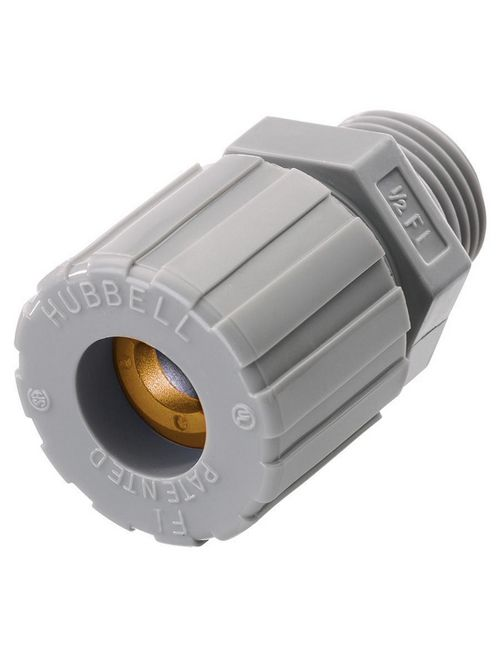 Hubbell Wiring Devices SHC1002CR 1/4 Inch 0.13 to 0.19 Inch Diameter Cord Straight Male Cord Connector