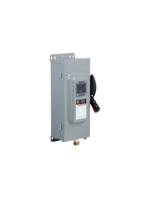 Square D H361VW 600 VAC 30 Amp 3-Pole Class H/J/K/L/R Fusible Heavy Duty Safety Switch