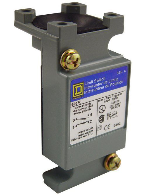 Square D 9007CO62A2 600 Volt 10 Amp 2-Pole Plug-In Heavy Duty Limit Switch