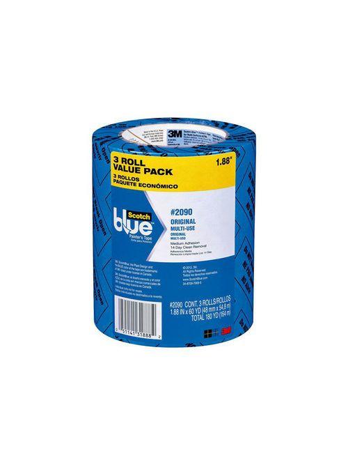 3M 2090-48EVP Scotch 1.88 Inch x 60 Yard 3-Pack Blue Painters Tape