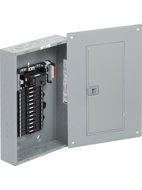 Square D QO124M100PC 100 Amp 1-Phase 3-Wire 24-Circuit NEMA 1 Main Breaker Load Center