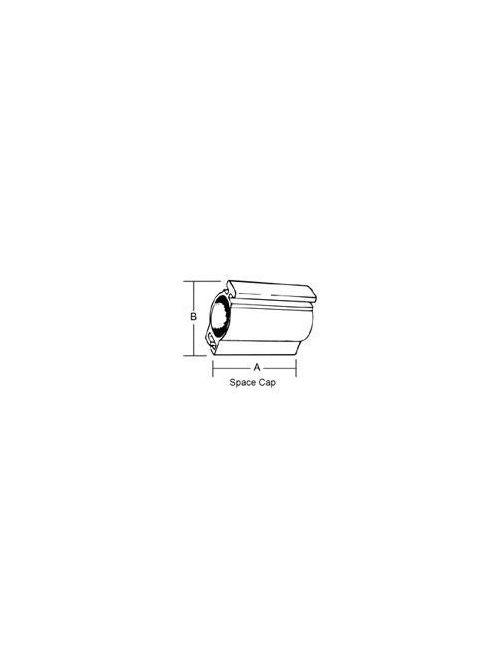 SC BR-501 1/2 INCH SPACE CAP,RGD/IM