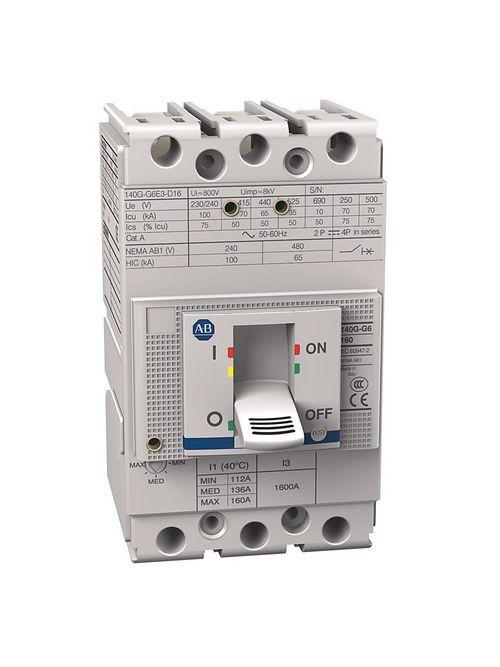 Allen Bradley 140G-G6E3-D16 160 Amp G-Frame Molded Case Circuit Breaker