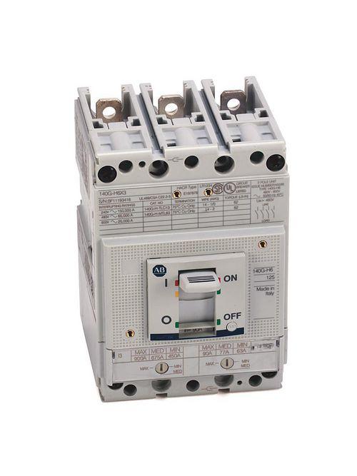 Allen Bradley 140G-H6F3-D12 125 Amp H-Frame Molded Case Circuit Breaker