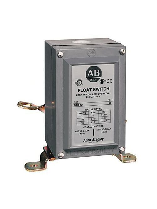 Allen Bradley 840-A71 600 VAC 10 Amp 2NO NEMA 7/9 Electromechanical Automatic Float Switch