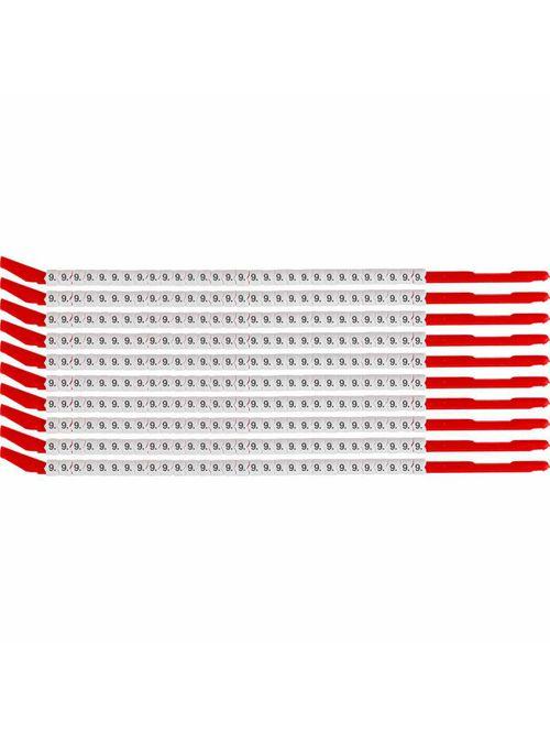 BRADY SCN10-9 Wire Mkr,ClipSlv,9,SC