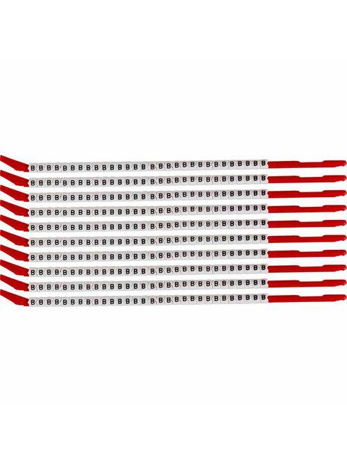 BRADY SCN10-B Wire Mkr,ClipSlv,B,SC