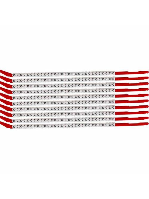 BRADY SCN10-C Wire Mkr,ClipSlv,C,SC