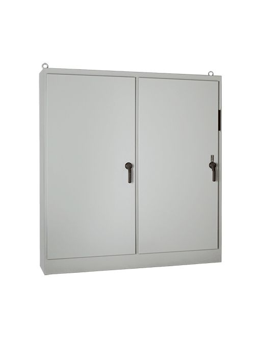 Hoffman A72XM3EQ18FTC 72.12 x 99.5 x 18.12 Inch White Steel NEMA 12 3-Door Free Stand Disconnect Enclosure