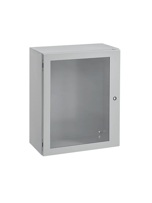 Hoffman CSD302412W 30 x 24 x 12 Inch Gray 16 Gauge Steel NEMA 4/12 1-Door Wall Mount Enclosure