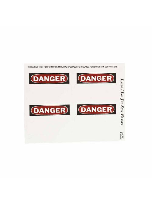 BRADY 12906 Label,B747,DANGER,5x3.5