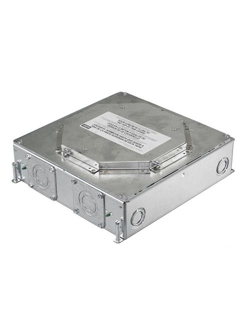 Hubbell Wiring Devices CFB4G30R 3 Inch 4-Gang Recessed Concrete Floor Box with Round Cover