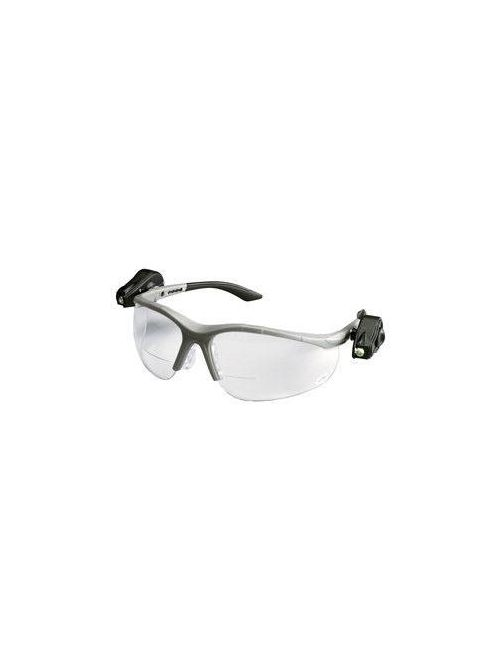 3M Industrial Safety 11478-00000-10 Light Vision 2 Clear Anti-Fog Lens +2.0 Diopt Gray Frame Lights 10/Case Safety Eyewear