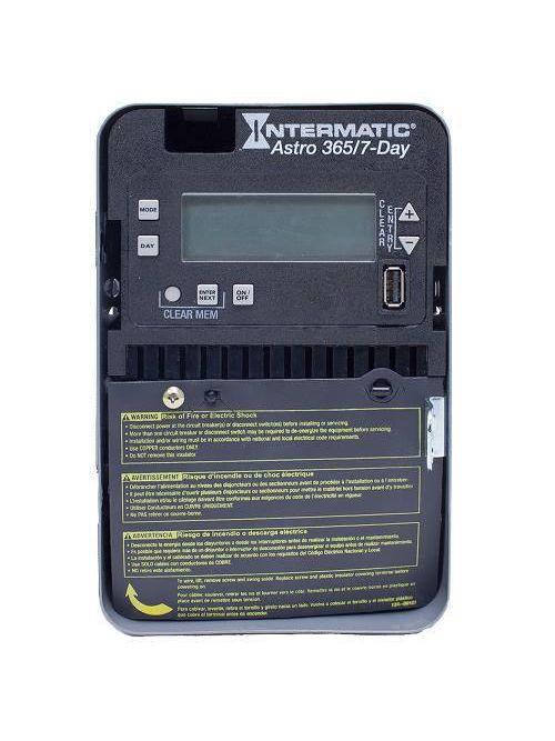 Intermatic ET2805C NEMA 1 Steel Case 7-Day 120 to 277 VAC 60 Hz 30 Amp SPST Astronomic Electronic Control