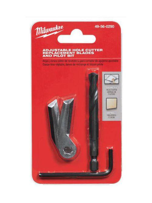 Milwaukee 49-56-0290 Adjustable Hole Cutter Replacement Blades & Pilot Bit