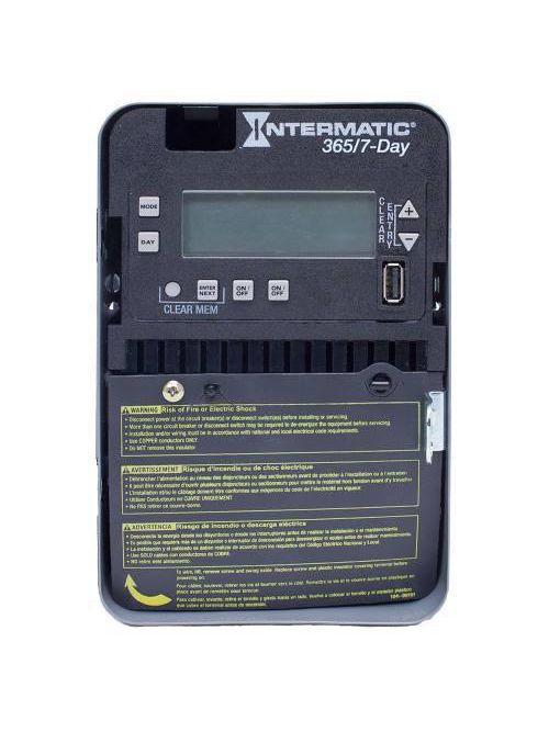 Intermatic ET2725C NEMA 1 Steel Case 7-Day 120 to 277 VAC 60 Hz 30 Amp DPST Electronic Control