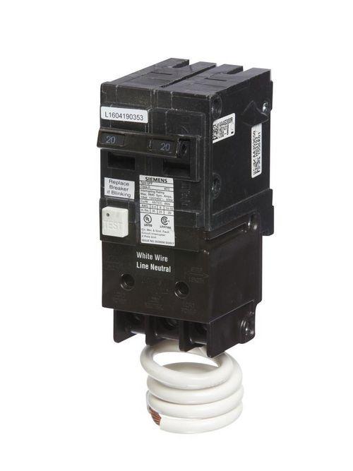 Siemens BRKR QPF GFCI 5mA 2P 240V 50A 10KA
