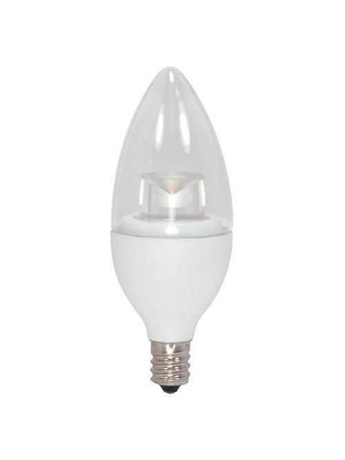 SATCO S8951 4.5 W 120 Volt 80 CRI 2700 K 300 Lumen Clear E12 Candelabra Base B11 Decorative LED Lamp