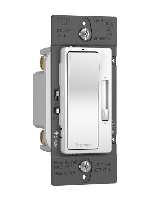 Legrand Radiant RH703-PTUW Tru-Universal 1-Pole 3-Way White Wall Box Dimmer