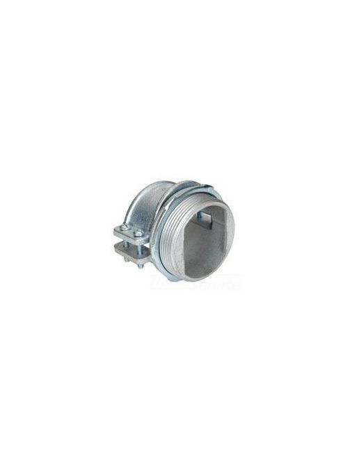 """Bridgeport 689-XM 3-1/2"""" 4-Screw Strap Connector, for Armored / Metalclad Cable, Malleable Iron"""