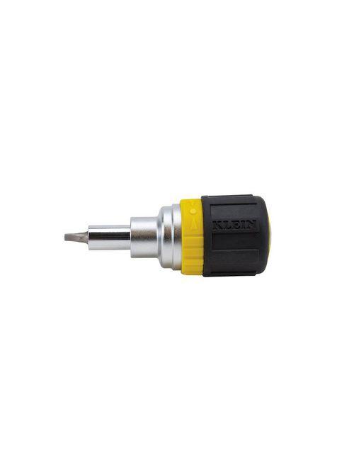 Klein 32594 3.5 Inch Cushioned Grip Black Handle 6-In-1 Stubby Screwdriver