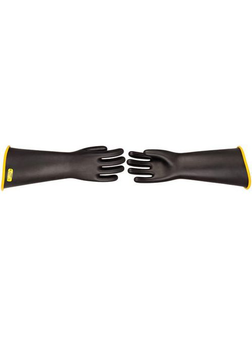 Hubbell Power PSC318CRB9H 18 Inch Class 3 Size 9.5 Red/Black Rubber Insulated Lineman Grade Contour Cuff Gloves