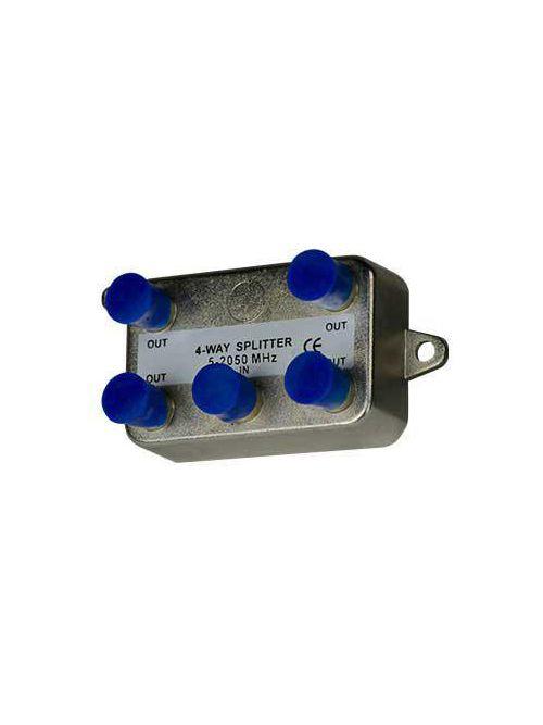 Pass & Seymour VM0204 4-Way 2 GHz Nickel Plated Enclosure Vertical Coaxial Splitter