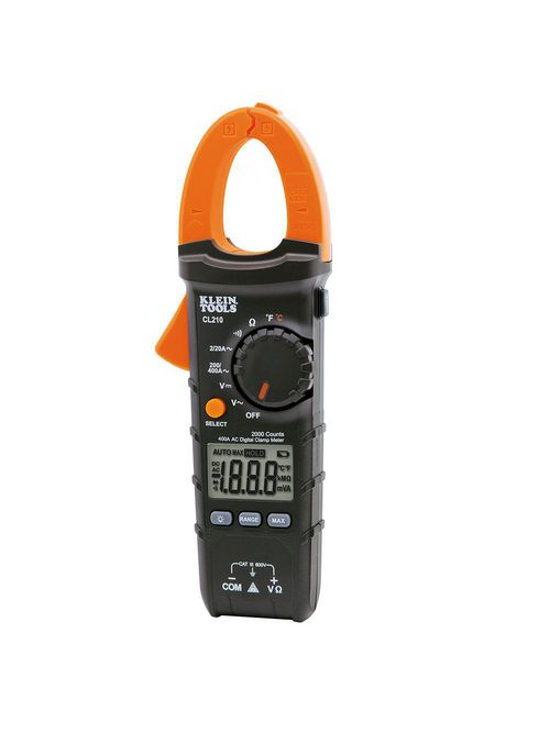 Klein CL210 Clamp Meter, Digital AC Auto-Ranging Tester with Thermocouple Probe