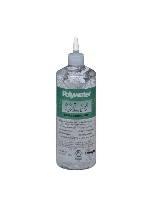 American Polywater CLR-35 1 Quart Squeeze Bottle 6.5 to 8 pH Clear Cable Lubricant