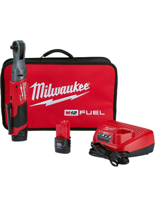 """Milwaukee 2557-22 M12#8482; FUEL™ 3/8"""" Ratchet Tool Kit"""