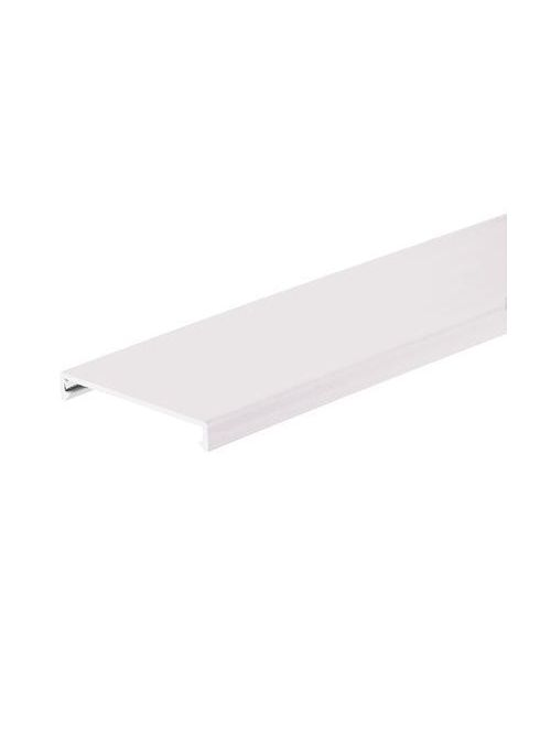 Duct cover, 2 W x 6' length, PVC, white.