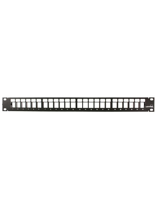 QuickPort Patch Panel, 24-Port, 1RU. Cable Management bar included.