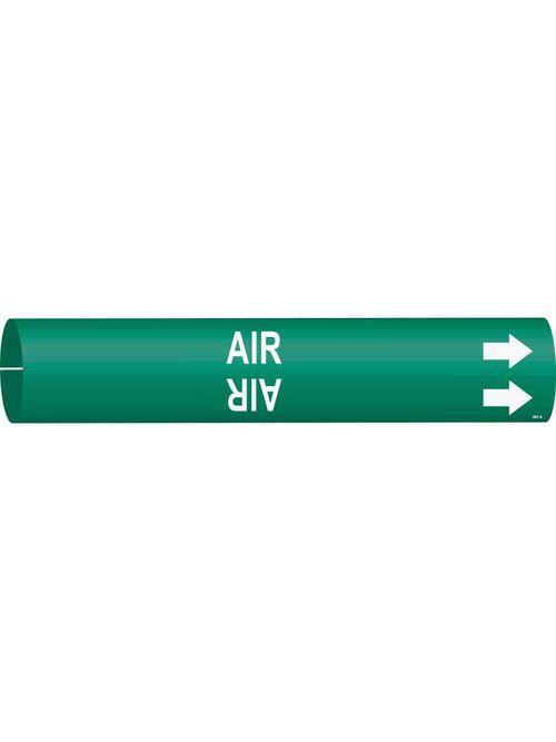 BRADY 4001-A PIPE MARKER, AIR/GRN/S
