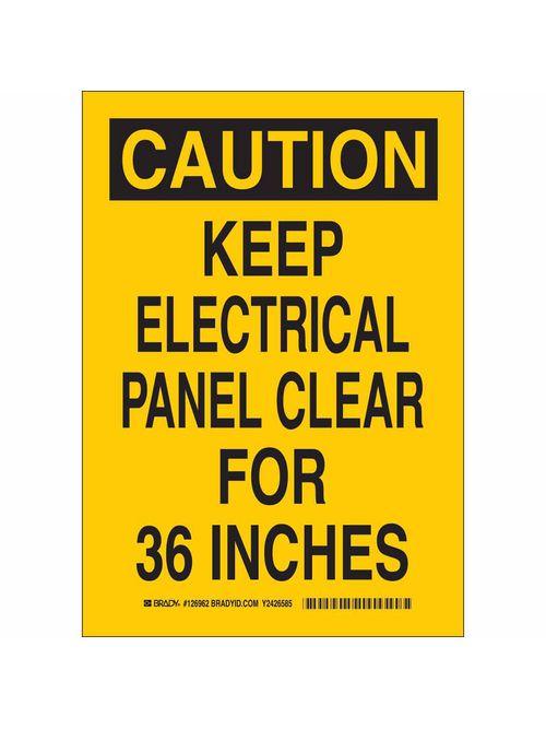 BRADY 126962 Sign,B302,7x10,Bk/Yw,C