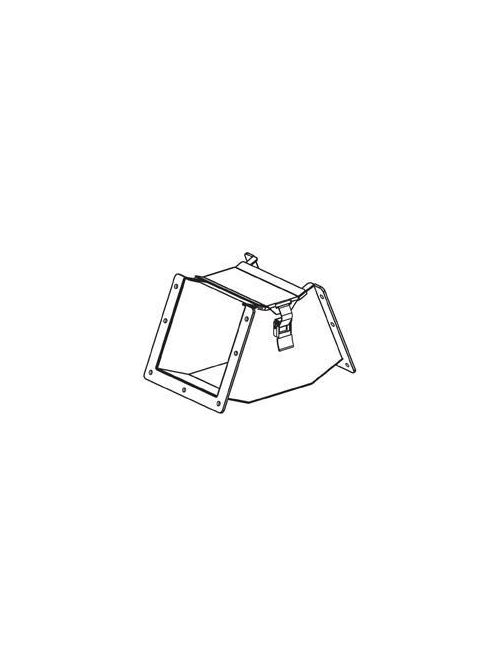 B-Line Series 66-12LE45B 6 x 6 Inch NEMA 12 45 Degrees Inside Opening Lay-In Wireway Elbow