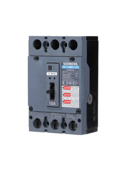 Siemens Ca HQR23B225H QR MCCB,100kA