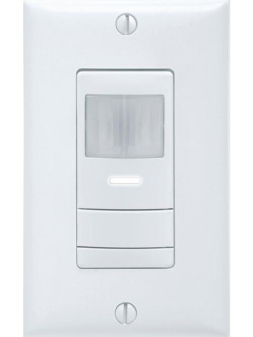Sensor Switch WSX PDT WH 120/277 VAC 1/4 Hp White 1-Gang Wall Switch Occupancy Sensor