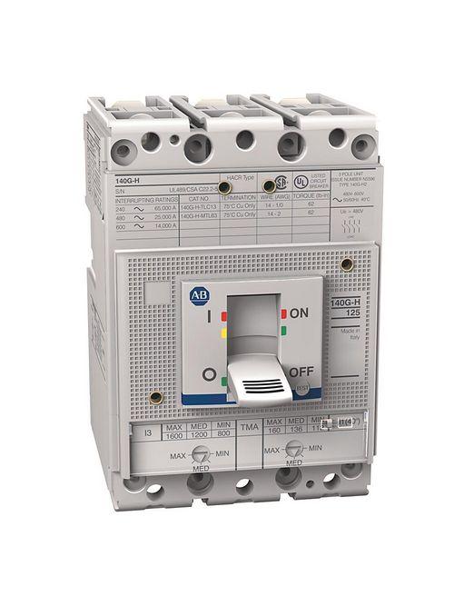 Allen Bradley 140G-H2F3-D11 125 Amp H-Frame Molded Case Circuit Breaker