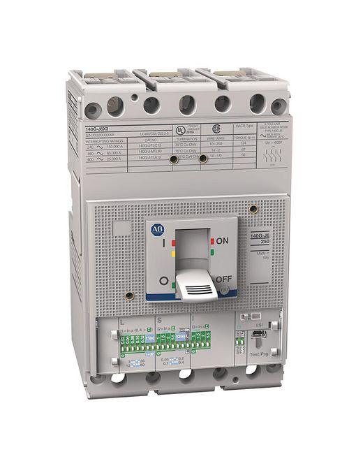 Allen Bradley 140G-J6H3-D15 250 Amp J-Frame Molded Case Circuit Breaker