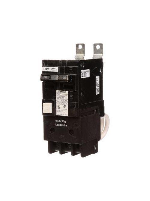 Siemens Industry BF230 2-Pole 30 Amp 120/240 Volt 10 K 5 mA Circuit Breaker