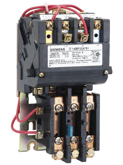 Siemens Industry 14CP32AC81 240/440 to 480 VAC 18 Amp 5 Hp 3-Phase 3-Pole Size 0 Non-Reversing NEMA Motor Starter