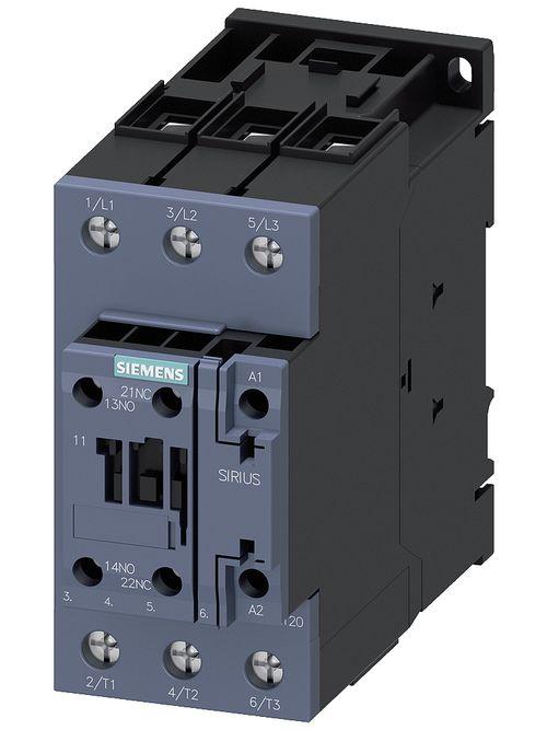 Siemens Industry 3RT20361AK60 120 VAC 50 Amp 3-Pole 1NO 1NC Screw Terminal IEC Contactor