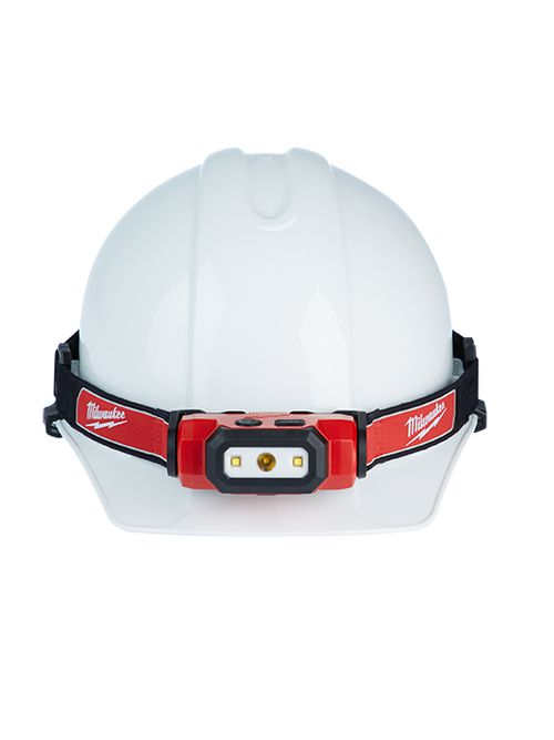 Milwaukee 2111-21 USB Rechargable Hard Hat Headlamp Includes Headlamp, Hard Hat Clips, USB Battery, 2ft USB Cord