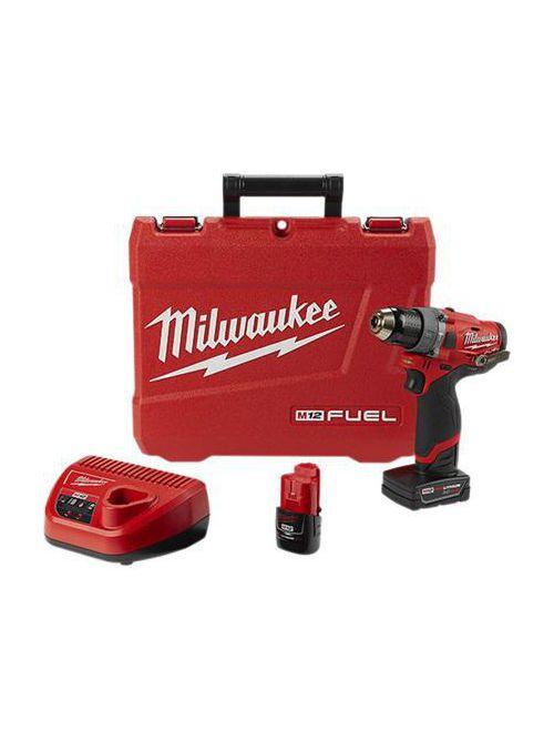 "Milwaukee 2504-22 M12#8482; FUEL™ 1/2"" Hammer Drill Kit"