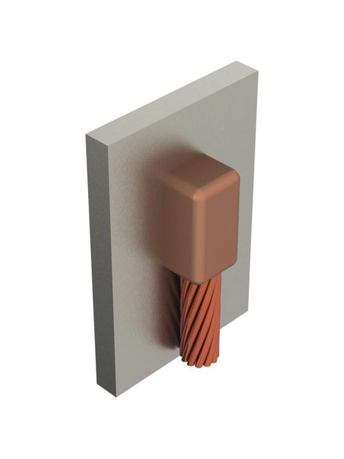 Erico VBC1V 2 AWG to 24 Inch Cable Down to Vertical Steel Surface Mold