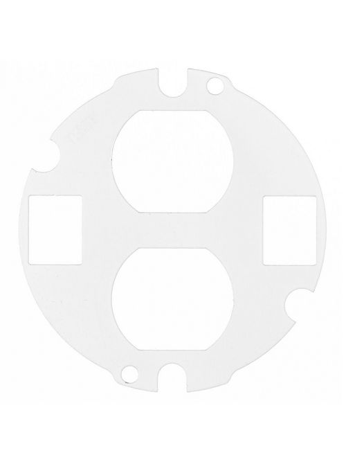 Hubbell Wiring Devices S1R4SP2X2DUPLEX S1r 4 Series Sub-Plate with 2 Duplex Device and 2 Keystone Jack Opening