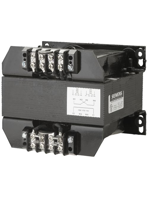 Siemens Industry MT1000A 1000 VA 240 x 480 VAC Primary 110/115/120 VAC Secondary Industrial Control Transformer