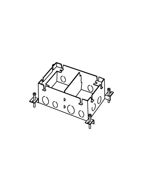 "Wiremold 880S2 1/2 x 3/4 x 1"" 117"" 2-Gang Stamped Steel Floor Box"