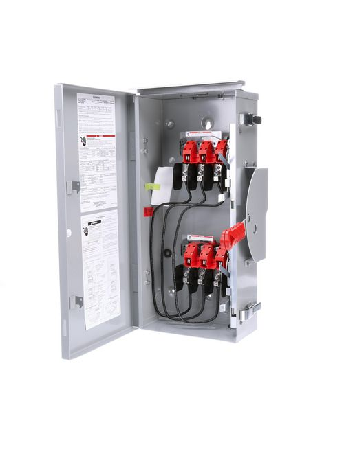 Siemens Industry DTNF362R 600 VAC/250 VDC 60 Amp 3-Pole 3-Wire NEMA 3R Heavy Duty Non-Fusible Safety Switch
